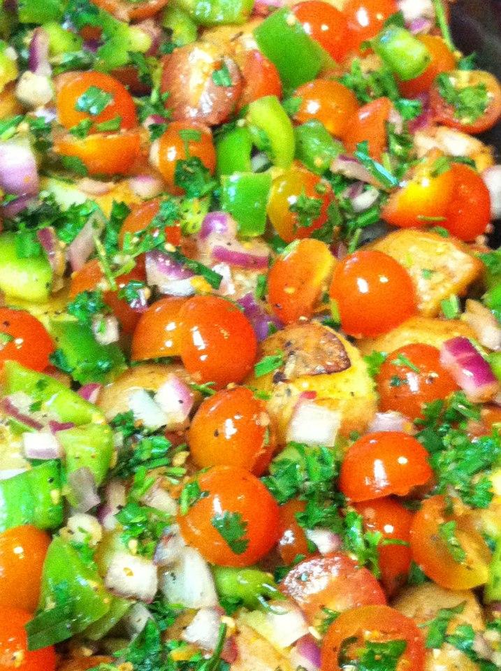 Roasted Potato Garden Salad