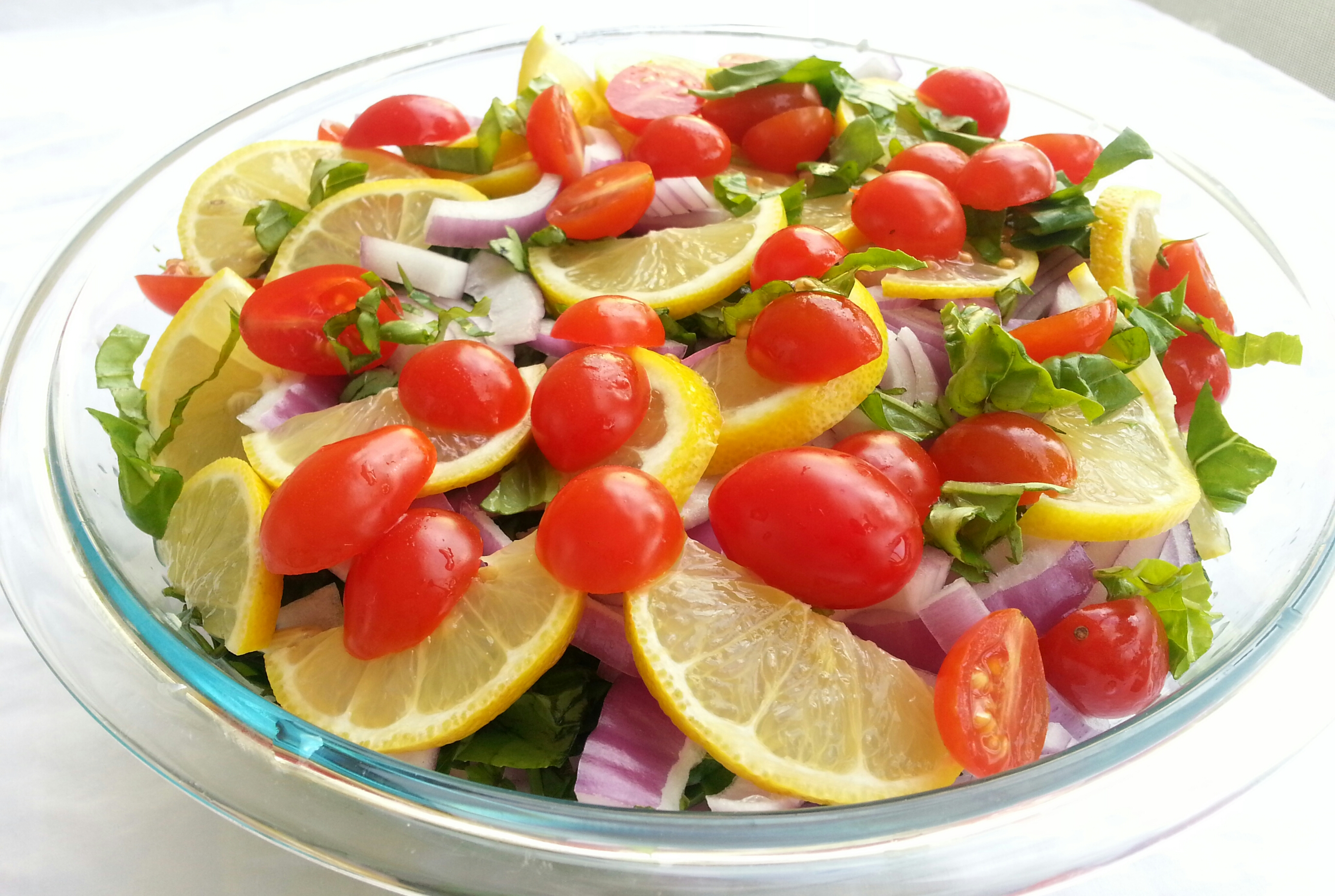 Lemon Pasta Salad Ingredients